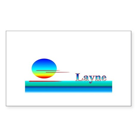 Layne Rectangle Sticker