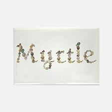 Myrtle Seashells Rectangle Magnet