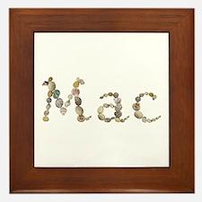 Mac Seashells Framed Tile