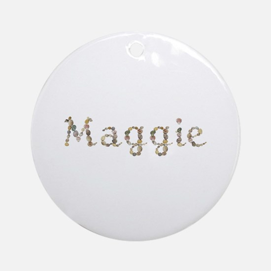 Maggie Seashells Round Ornament