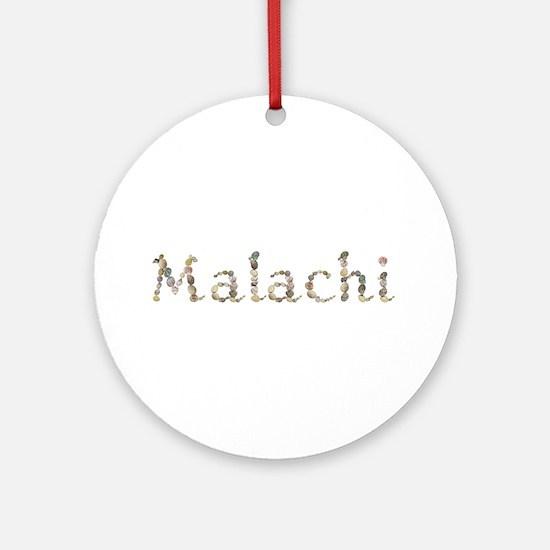 Malachi Seashells Round Ornament