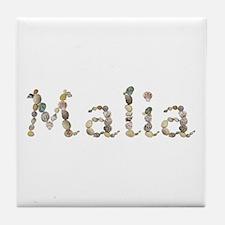 Malia Seashells Tile Coaster