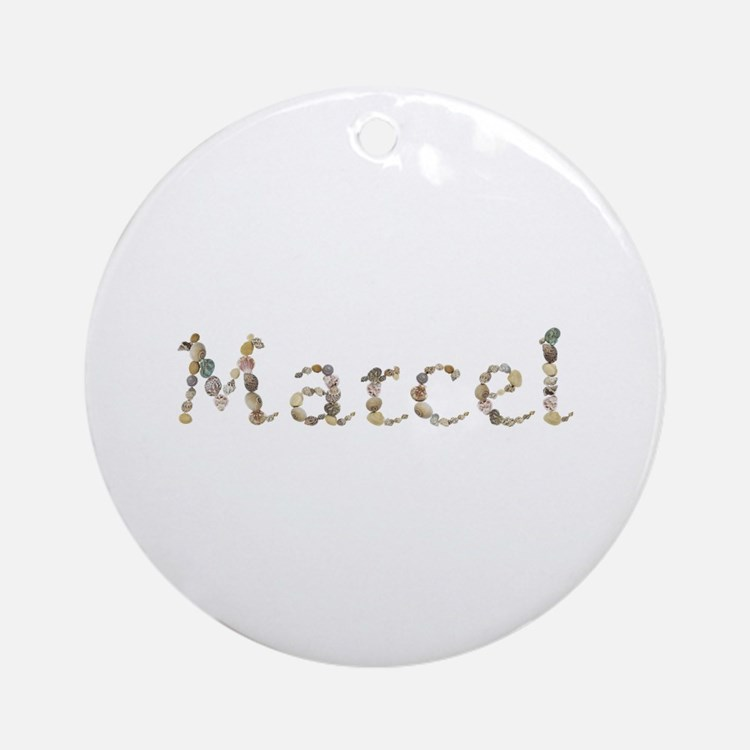 Marcel Seashells Round Ornament