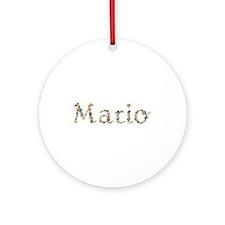 Mario Seashells Round Ornament