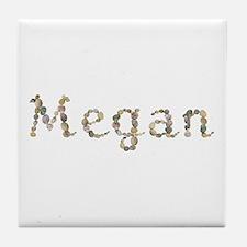 Megan Seashells Tile Coaster