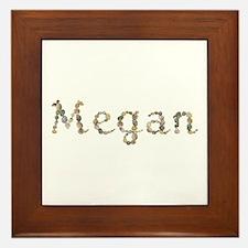 Megan Seashells Framed Tile
