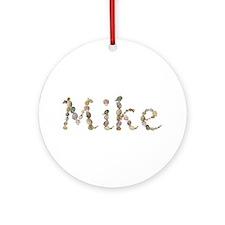 Mike Seashells Round Ornament