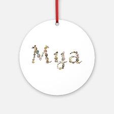 Mya Seashells Round Ornament