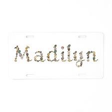 Madilyn Seashells Aluminum License Plate