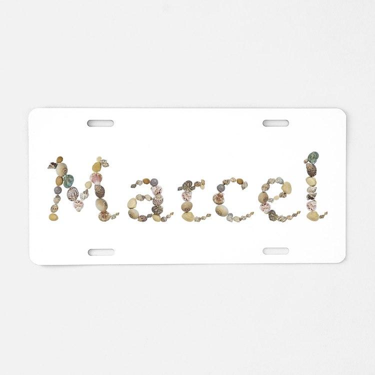 Marcel Seashells Aluminum License Plate