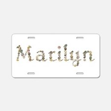 Marilyn Seashells Aluminum License Plate