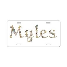 Myles Seashells Aluminum License Plate