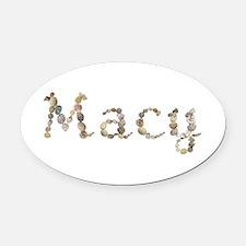 Macy Seashells Oval Car Magnet