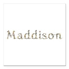 Maddison Seashells Square Car Magnet