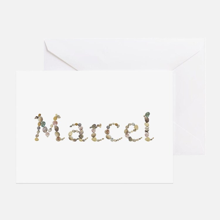 Marcel Seashells Greeting Card