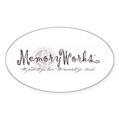 MemoryWorks Logo Oval Decal