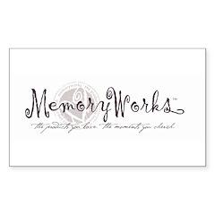 MemoryWorks Logo Rectangle Decal