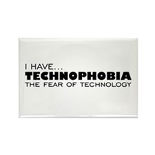 Technology-Phobia Rectangle Magnet