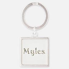 Myles Seashells Square Keychain