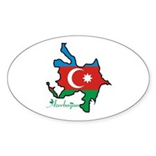 Cool Azerbaijan Oval Decal
