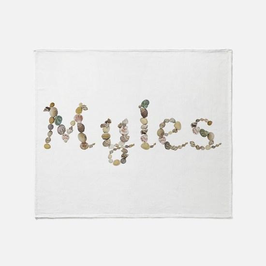 Myles Seashells Throw Blanket