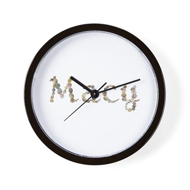 Macy seashells wall clock by namestuff shells mr for Seashell clock