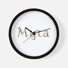 Myra Seashells Wall Clock