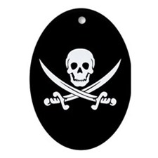 PIRATE! Oval Ornament