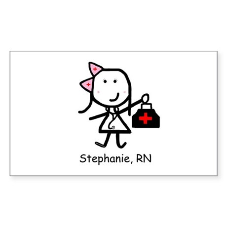 Medical - Stephanie Rectangle Sticker