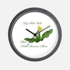 Wall Clock-Dog Tooth Violet