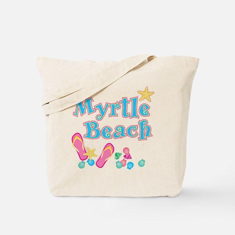 Myrtle Beach Flip Flops - Tote or Beach Bag