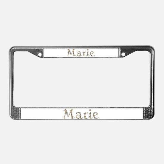 Marie Seashells License Plate Frame