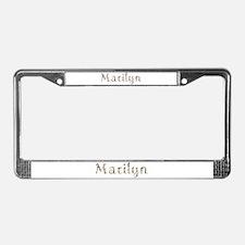 Marilyn Seashells License Plate Frame