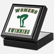 Green Women's Swimming Logo Keepsake Box