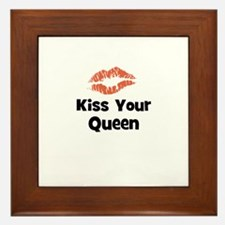 Kiss Your Queen Framed Tile
