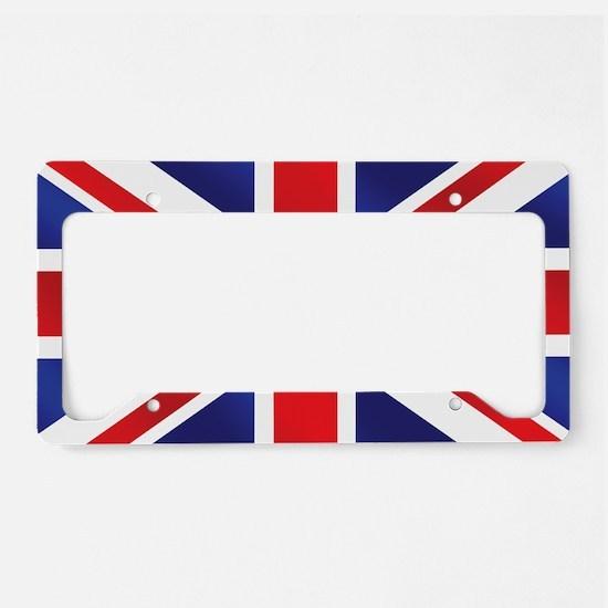 Union Jack UK Flag License Plate Holder
