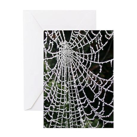 Ice-Encrusted Web Greeting Card