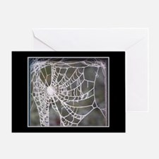 Crystalline Cobweb Greeting Card