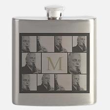 Photo Block with Monogram Flask
