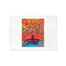 Tree Of Life Peace & Sorrow - Tree 5'x7'Area Rug