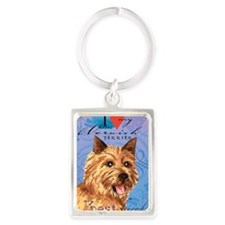 Cute Dog breeds Portrait Keychain