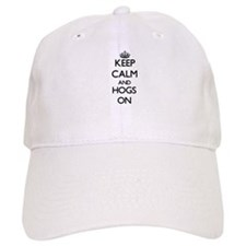 Keep Calm and Hogs ON Baseball Cap