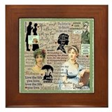 Jane austen Framed Tiles
