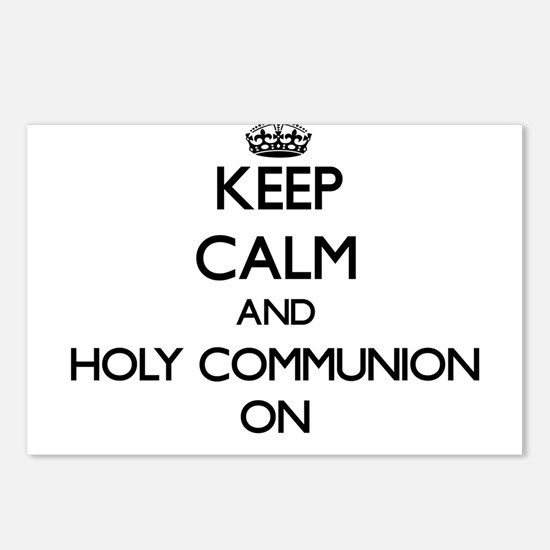 Keep Calm and Holy Commun Postcards (Package of 8)