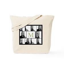Photo Block with Monogram Tote Bag