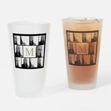 Photo Block with Monogram Drinking Glass
