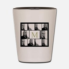 Photo Block with Monogram Shot Glass