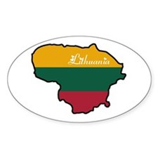 Cool Lithuania Oval Decal