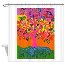 The Root of Knowledge - Tree of Lif Shower Curtain