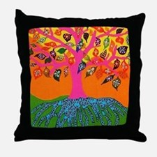 The Root of Knowledge - Tree of Life Throw Pillow